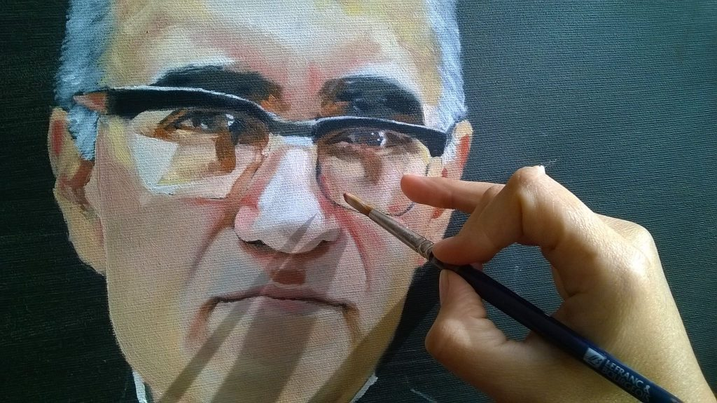 Portrait of Oscar Arnulfo Romero of El Salvador Blessed